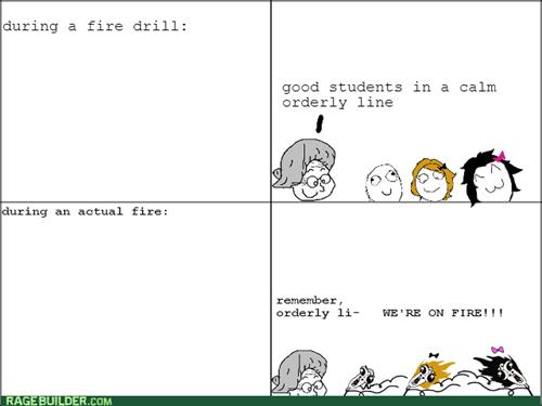 chaos fire drill school - 8345969664
