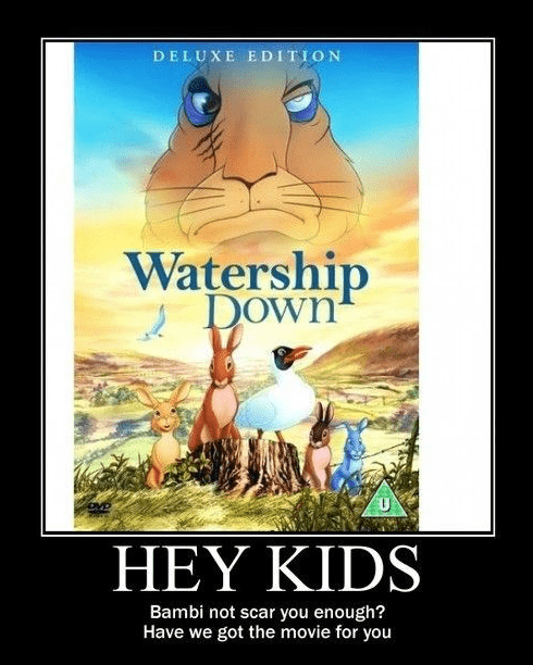 cartoons,very demotivational,Watership Down