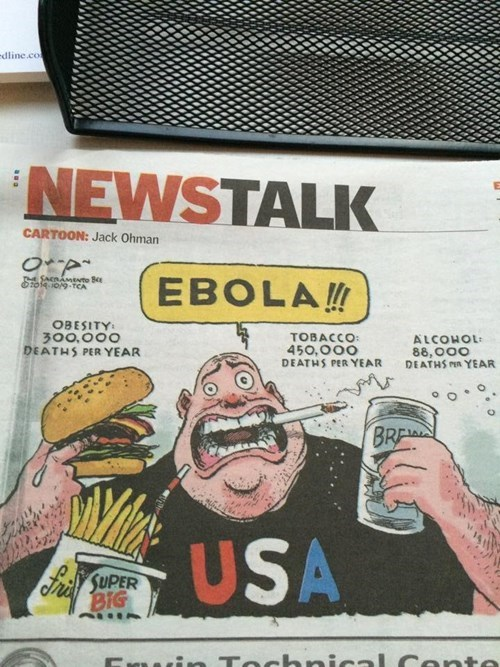 comics ebola political cartoons obesity - 8346311936