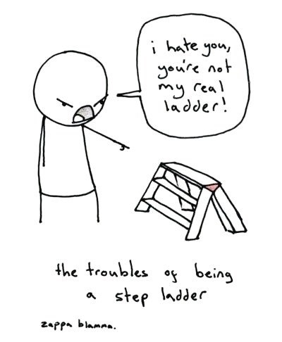 puns,ladders,sad but true,family,step ladder,web comics