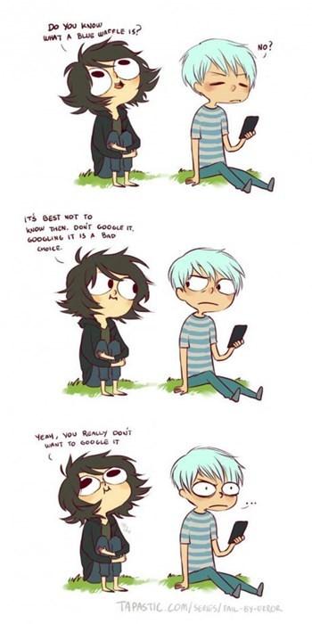 blue waffle,google,web comics