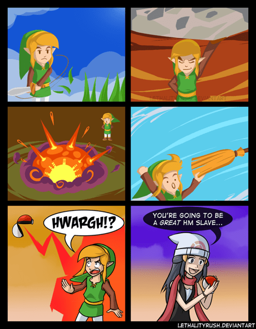 hms link Fan Art Pokémon the legend of zelda web comics - 8346525184