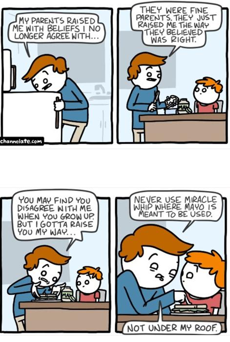 beliefs mayonnaise parenting web comics - 8346653184