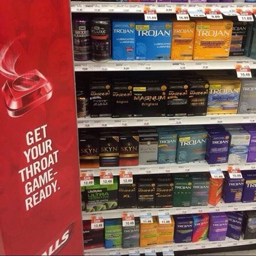 condoms I see what you did there monday thru friday cough drops - 8346714368