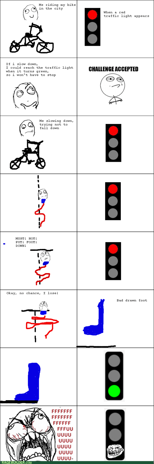 comics entertainment rage traffic light bike - 8346747904