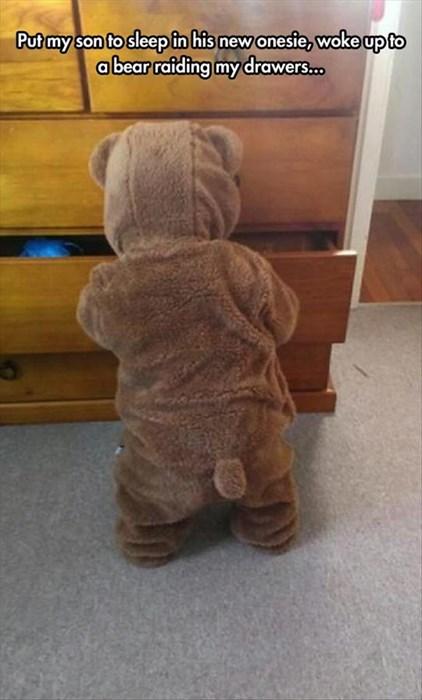 bear kids onesie parenting g rated - 8346752768