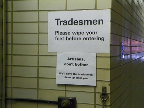 artisan monday thru friday sign tradesman - 8346753536