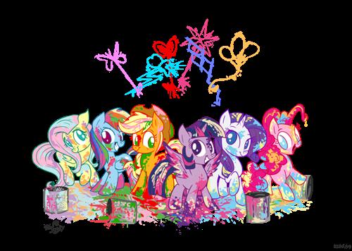 Fan Art mane 6 rainbow power - 8346754304