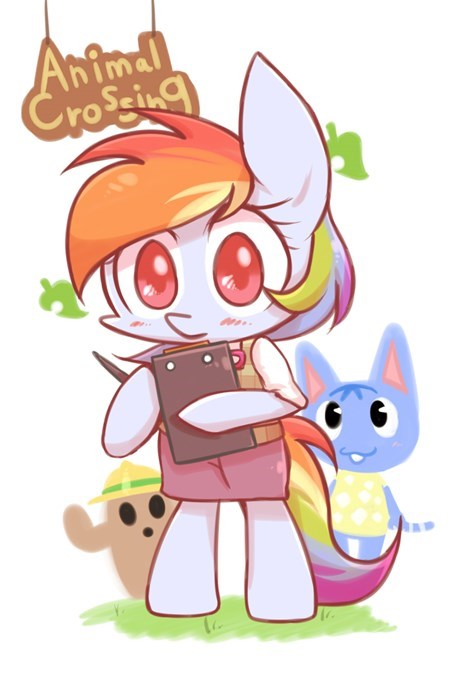 animal crossing cute rainbow dash - 8346756096