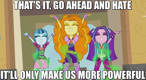 internet,The Dazzlings,haters