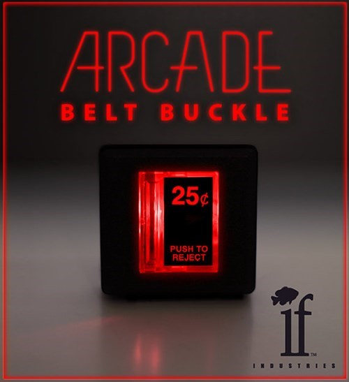 This Awesome Arcade Belt Buckle Lights Up!