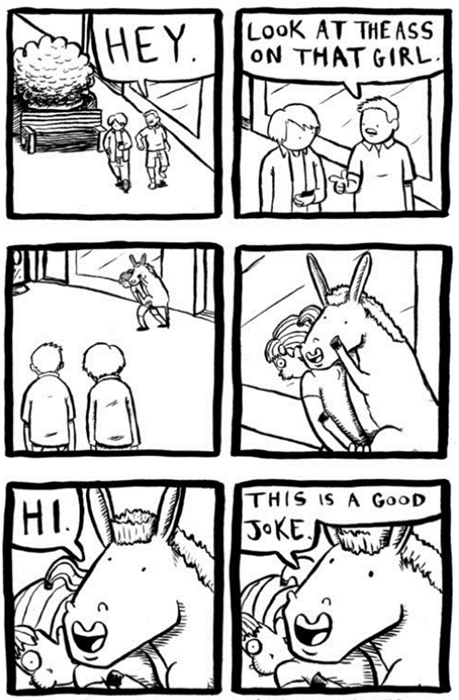 jokes puns donkey web comics - 8347412992