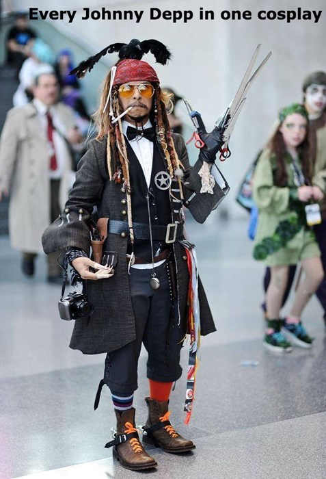 costume,cosplay,poorly dressed,Johnny Depp,win,g rated