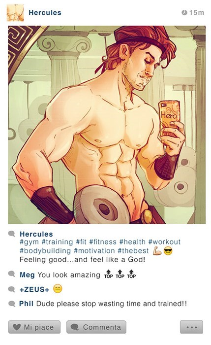 Cartoon - Hercules 15m Hero Hercules #gym #training #fit #fitness #health #workout #bodybuilding #motivation #thebest Feeling good...and feel like a God! Meg You look amazing TOP TOP TOP +ZEUS+ Phil Dude please stop wasting time and trained!! Mi piace Commenta
