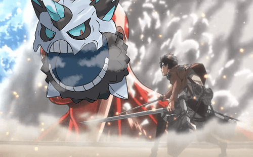 crossover Pokémon mega glalie attack on titan - 8347629056