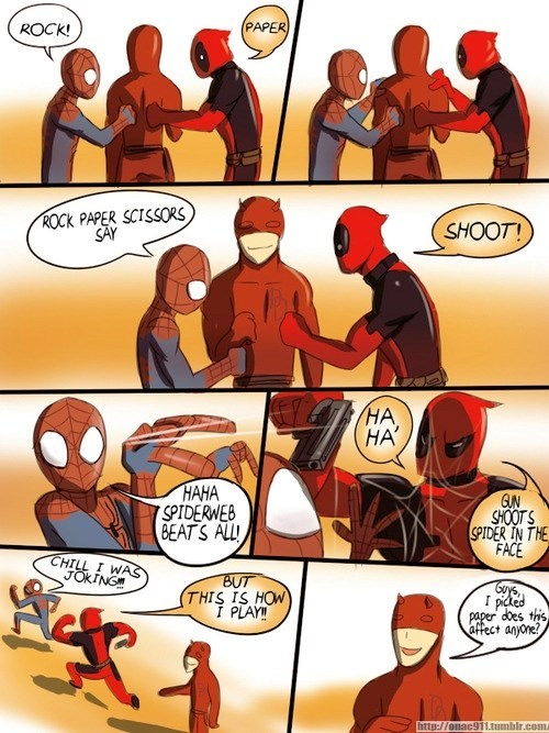 deadpool Spider-Man daredevil - 8347668992