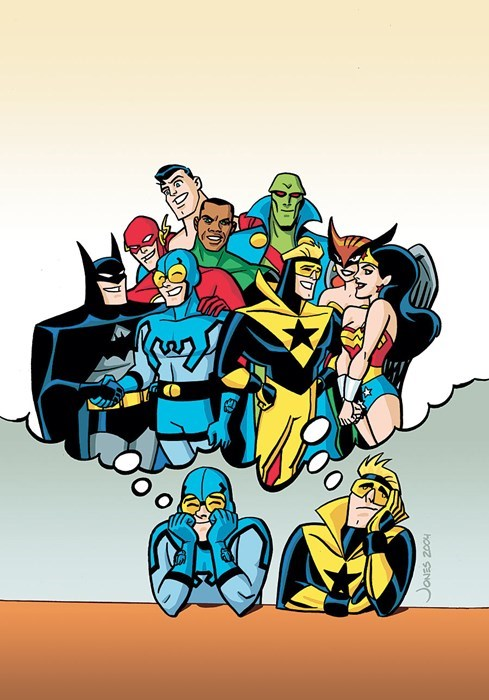 blue beetle justice league booster gold Straight off the Page - 8347674624