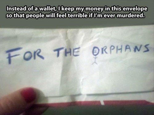 orphans,wallets,money