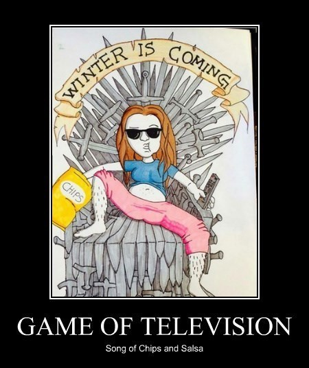 memes chips Game of Thrones lazy TV - 8348809472