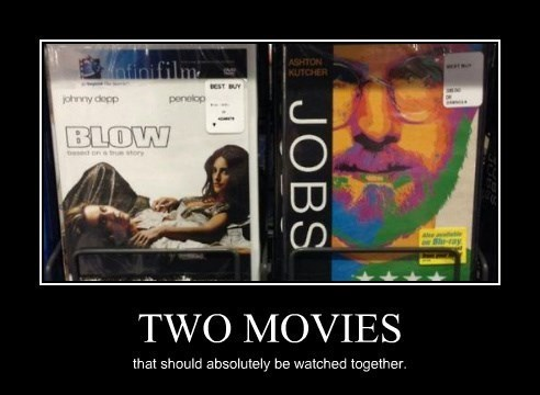 movies,blow,sexy times,steve jobs,funny