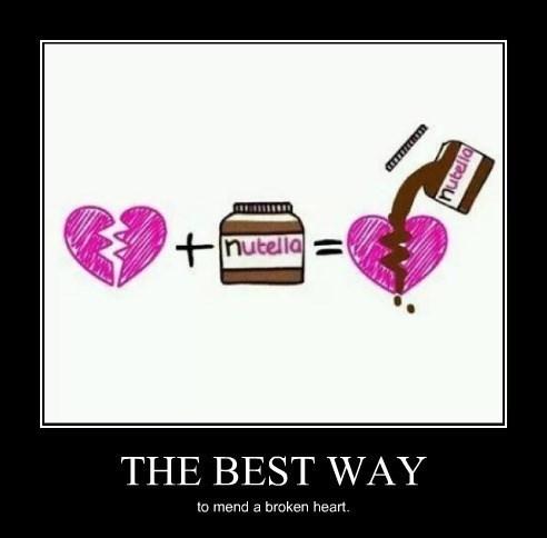 broken heart,nutella,funny