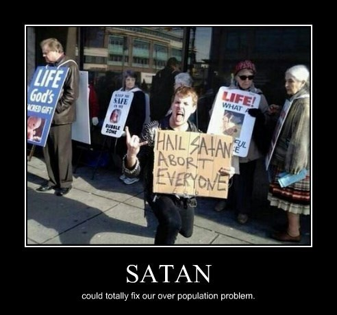 abortion,sign,Protest,satan,funny