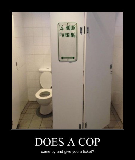 memes cops sign bathroom funny parking - 8348812544