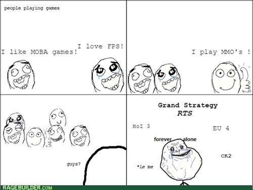 forever alone,rts,video games