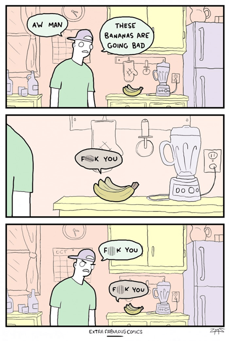 bananas puns fruit web comics - 8348928768