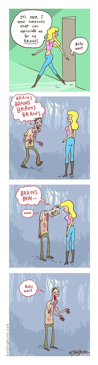 respect men relationships brain funny women halloween zombie dating - 8348948992