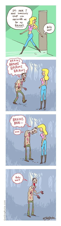 respect men relationships brain funny women halloween zombie dating - 8348948992