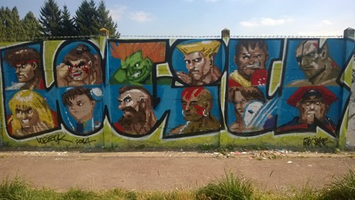 Street Art nerdgasm Street fighter hacked irl video games - 8349059840