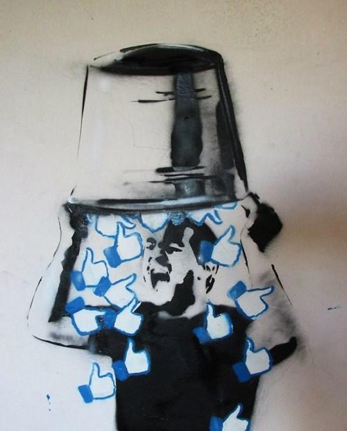 Street Art graffiti hacked irl ice bucket challenge failbook g rated - 8349073664