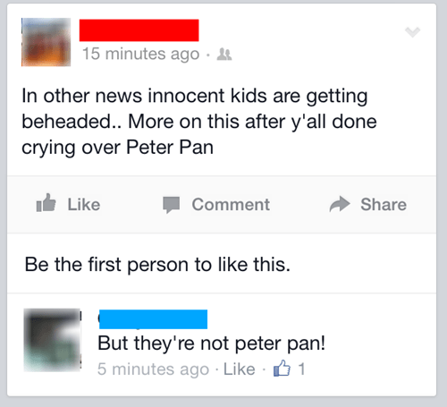 fails peter pan buzzkill Probably bad News - 8349091328