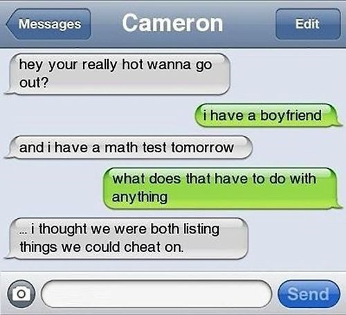 fails boyfriend cheating math test funny - 8349790976