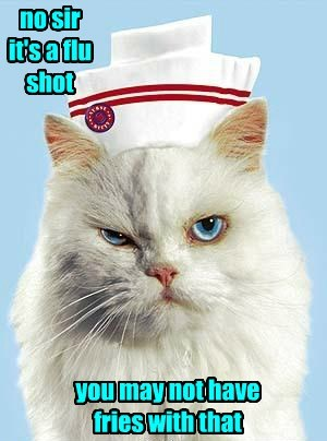 nurse flu grumpy Cats - 8349802496