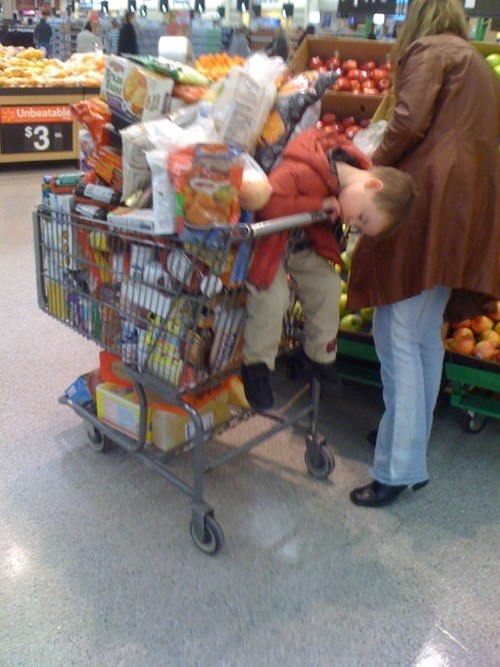 nap kids shopping cart parenting grocery shopping grocery store