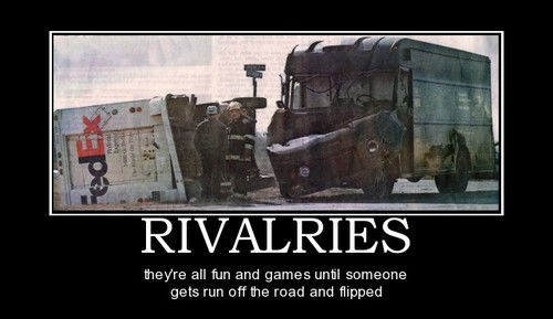 fed ex,UPS,funny,rivalry