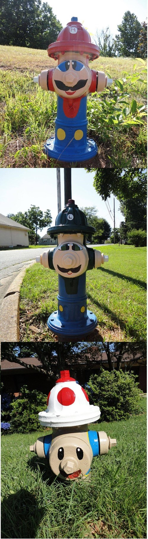 firefighters fire hydrant mario
