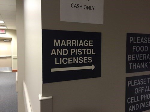 guns marriage funny license - 8350000384