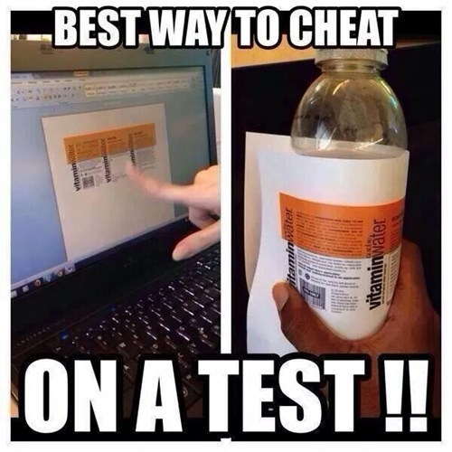 vitamin water,cheating,test,funny