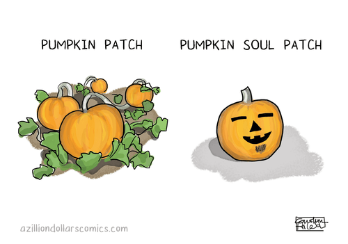 pumpkins,soul patch,facial hair,halloween,puns,web comics