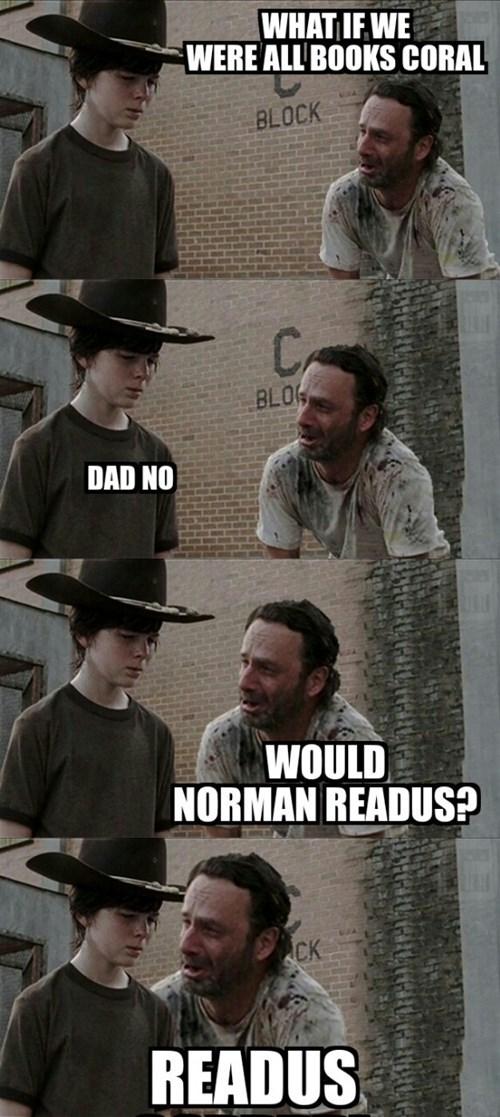 Walking Dad Jokes puns norman reedus - 8350176256