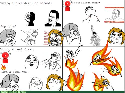 comics entertainment school fire drill - 8350180608