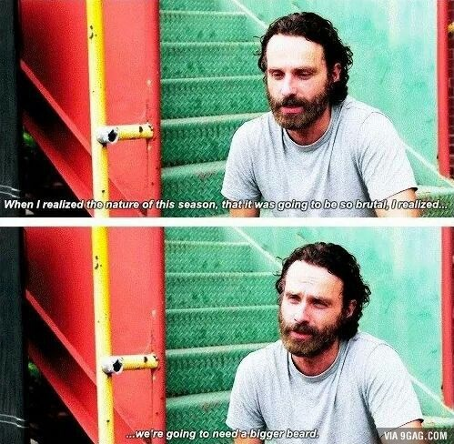 Rick Grimes Andrew Lincoln beard - 8350186240