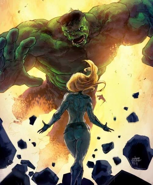 comics entertainment invisible woman Fantastic Four incredible hulk - 8350207232