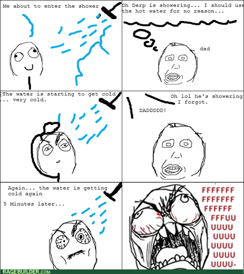 comics entertainment dad shower rage water - 8350663936