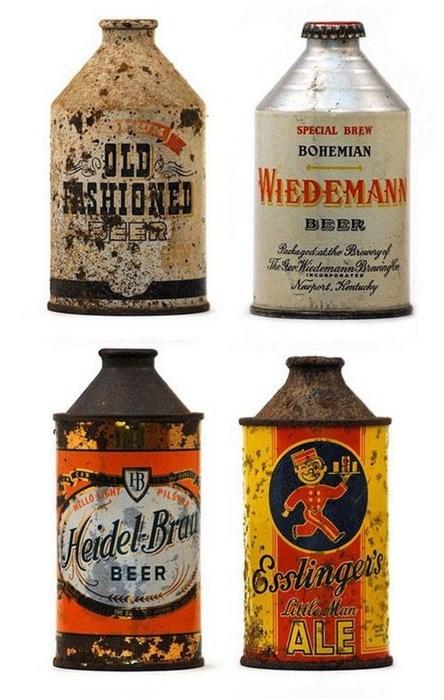 beer cans old fashioned vintage bottles - 8350913792