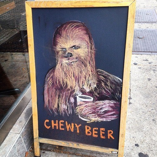 beer sign chewbacca funny after 12 - 8350947840