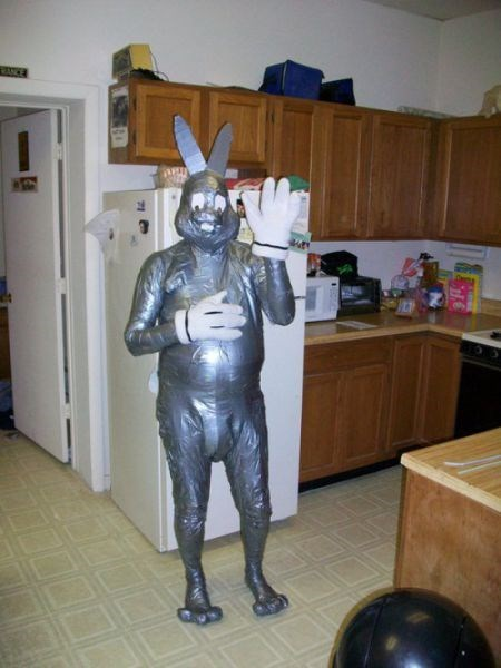 costume bugs bunny poorly dressed duct tape - 8351111936